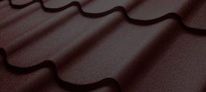 metal brown roofing