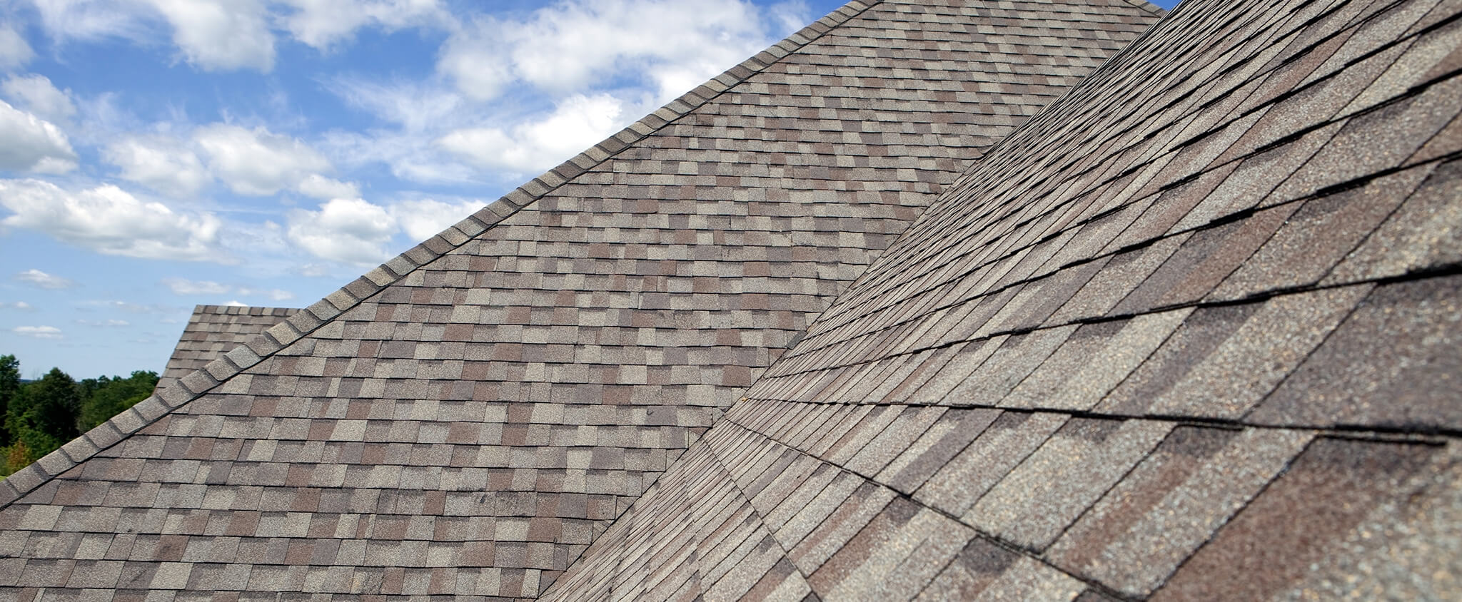 roof with brown colored shingles