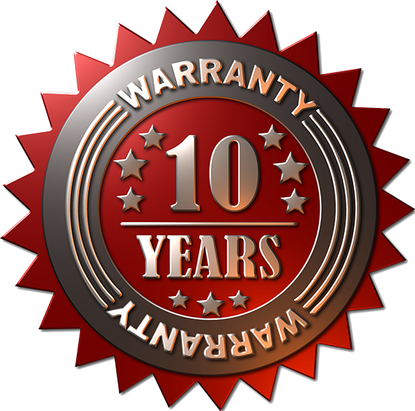10 year warranty guarantee