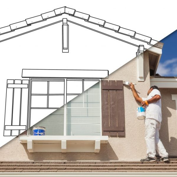 Man Painting a House  sc 1 st  Fair N Square Roofing u0026 Construction & Interior u0026 Exterior Painting Services | Coppell TX | Fair N Square